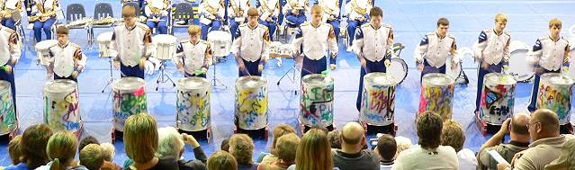 Percussion feature insert...on trash cans!