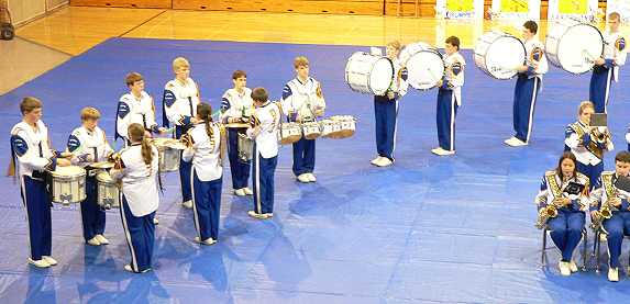 Our hard-working drumline